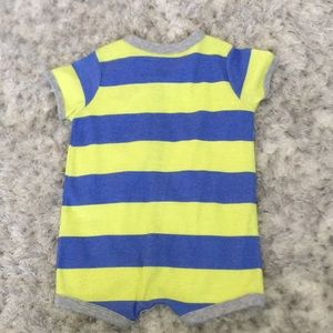 Carter's One Pieces - 3 M Carter's Blue and Yellow bodysuit